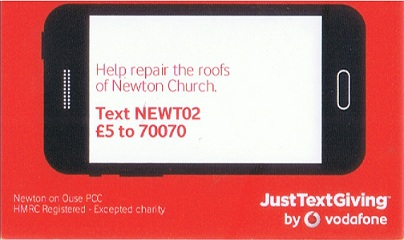 Just Text Giving code card
